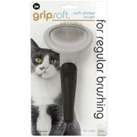 JW Gripsoft Slicker Grooming Brush for Cats big image