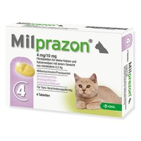 Milprazon 4mg/10mg Tablets for Small Cats and Kittens big image