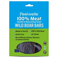 Feelwells 100% Meat Healthy & Natural Dog Treats (Wild Boar Bars) 100g big image