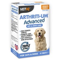 VetIQ Arthriti-UM Advanced Care for Cats and Dogs (Box of 45 Tablets) big image
