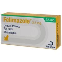 Felimazole 2.5mg Coated Tablets for Cats big image
