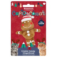 Rosewood Cupid & Comet Crinkle Catnip Gingerbread Cat Toy big image