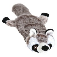 Animate Flat Friend Squeaky Dog Toy (Racoon) big image