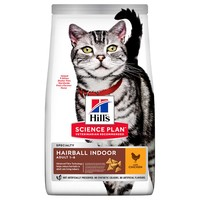 Hills Science Plan Hairball Indoor Adult Dry Cat Food (Chicken) big image