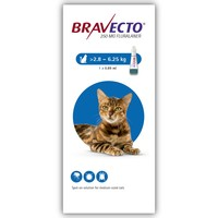 Bravecto 250mg Spot-On Solution for Medium Cats (Single Pipette) big image