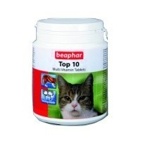 Beaphar Top 10 Multi-Vitamin Tablets for Cats big image