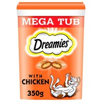Dreamies Flavoured Cat Treats Mega Tub 350g big image