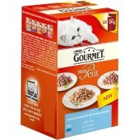 Purina Gourmet Mon Petit Wet Cat Food 6 x 50g Pouches (New Tempting Recipes) big image
