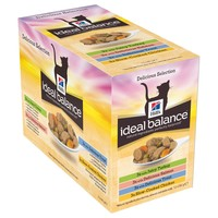Hills Ideal Balance Adult Cat Food Pouches (Delicious Selection) big image