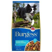 Burgess Active Dog Food 15kg (Chicken and Beef) big image
