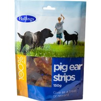Hollings Pig Ear Strips Treat for Dogs 500g big image