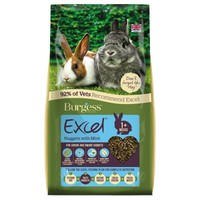 Burgess Excel Junior and Dwarf Rabbit Nuggets with Mint big image