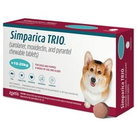 Simparica Trio 24mg Chewable Tablets for Dogs (10 - 20kg) big image