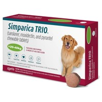 Simparica Trio Chewable Tablets for Dogs (20 - 40kg) big image