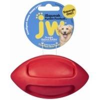 JW iSqueak Funble Football Dog Toy (Small) big image