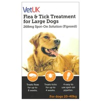 VetUK Flea and Tick Treatment for Large Dogs (4 Pipettes) big image