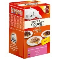 Purina Gourmet Mon Petit Wet Cat Food 6 x 50g Pouches (New Indulgent Selection) big image