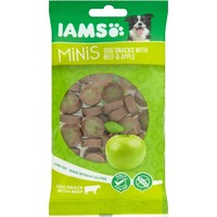 Iams Minis Dog Snacks with Beef & Apple 100g big image