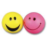 Smiley Face Vinyl Ball Dog Toy big image