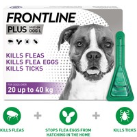 FRONTLINE Plus Flea and Tick Treatment for Large Dogs big image