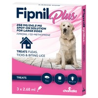 Fipnil Plus Spot-On Solution for Large Dogs (3 Pipettes) big image