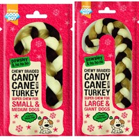 Good Boy Pawsley Christmas Chewy Braided Candy Cane with Turkey big image