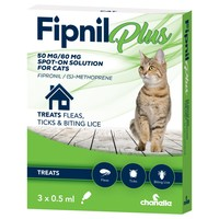 Fipnil Plus Spot-On Solution for Cats (3 Pipettes) big image