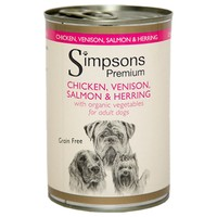 Simpsons Premium Adult Wet Dog Food (Chicken, Venison, Salmon and Herring) big image