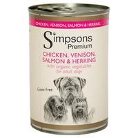 Simpsons Premium Adult Wet Dog Food (Chicken, Venison, Salmon and Herring) big image