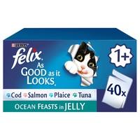 Felix As Good As It Looks Adult Cat Food in Jelly (Ocean Feasts) big image
