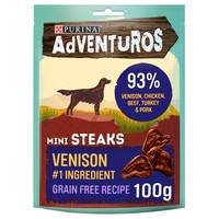 Purina Adventuros Mini Steaks with Venison 100g big image
