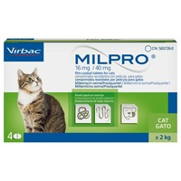 Milpro 16mg/40mg Worming Tablets for Cats (4 Pack) big image