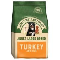 James Wellbeloved Adult Dog Large Breed Dry Food (Turkey & Rice) 15Kg big image