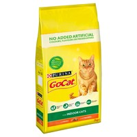 Purina Go-Cat Indoor Adult Dry Cat Food (Chicken with Vegetables) 2kg big image