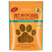 Pet Munchies Wild Salmon Strips Treats for Dogs 80g big image