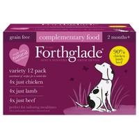 Forthglade Just Chicken/Lamb/Beef Dog Food Variety Pack big image
