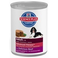Hills Science Plan Advanced Fitness Adult Dog Food Tins 12 x 370g (Beef) big image