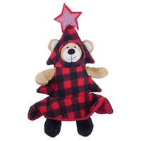 Rosewood Cupid & Comet Squeaky Bauble Bear Soft Toy for Dogs big image