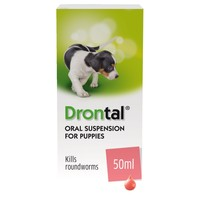 Drontal Oral Suspension Wormer for Puppies big image