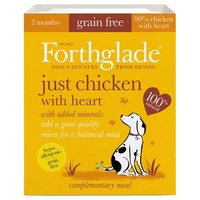 Forthglade Just Chicken with Heart Grain Free Dog Food (18 x 395g) big image