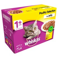 Whiskas 1+ Adult Cat Wet Food Pouches in Jelly (Poultry Selection) big image