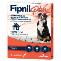 Fipnil Plus Spot-On Solution for Extra Large Dogs (3 Pipettes) big image