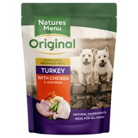 Natures Menu Original Adult Dog Food Pouches (Turkey with Chicken) big image