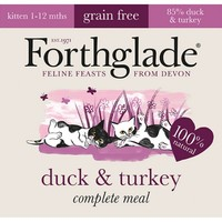 Forthglade Complete Meal Grain Free Kitten Food (Duck & Turkey) 12 x 90g big image