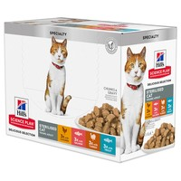 Hills Science Plan Young Adult Sterilised Cat Food Pouches (Delicious Selection) big image
