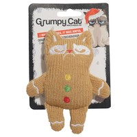 Rosewood Grumpy Cat Knitted Gingerbread Man Soft Toy for Cats big image