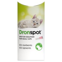 Dronspot Spot-On Worming Solution for Small Cats big image