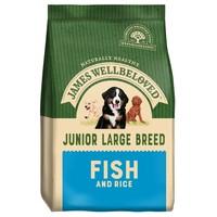 James Wellbeloved Junior Large Breed Dry Dog Food (Fish and Rice) 15kg big image