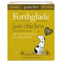 Forthglade Just Chicken Grain Free Dog Food (18 x 395g) big image