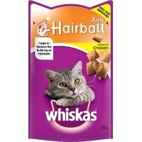 Whiskas Anti Hairball Treats 50g big image